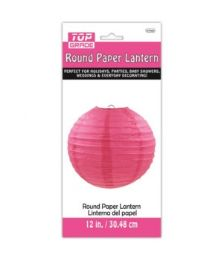 96 Units of Paper Lantern Twelve Inch Hot Pink - Party Center Pieces