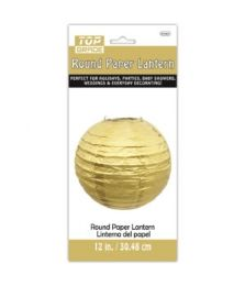72 Units of Paper Lantern Twelve Inch Gold - Party Center Pieces