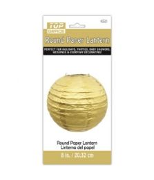 96 Units of Paper Lantern NIne Inch Gold - Party Center Pieces