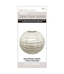 60 Units of Paper Lantern Twelve Inch Silver - Party Center Pieces