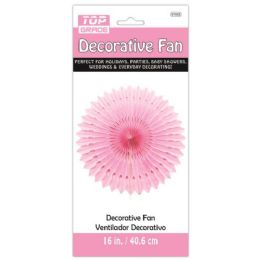 96 Units of Sixteen Inch Decorative Fan Baby Pink - Party Center Pieces