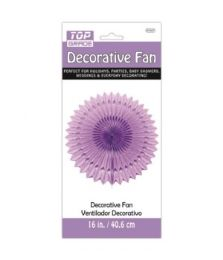 96 Units of Sixteen Inch Decorative Fan Purple - Party Center Pieces