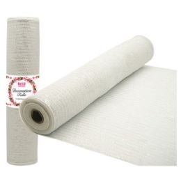96 Units of Tulle fabric roll white - Sewing Supplies