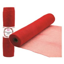 96 Units of Tulle fabric roll red - Sewing Supplies