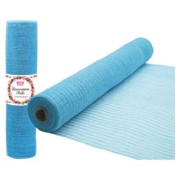 96 Units of Tulle fabric roll baby blue - Sewing Supplies