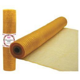 96 Units of Tulle fabric roll gold - Sewing Supplies