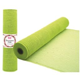 96 Units of Tulle fabric roll lime - Sewing Supplies