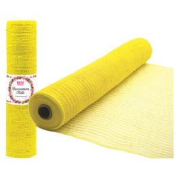 96 Units of Tulle fabric roll yellow - Sewing Supplies