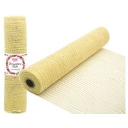 48 Units of Tulle Fabric Roll Beige - Sewing Supplies