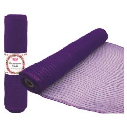 48 Units of Tulle Fabric Roll Purple - Sewing Supplies