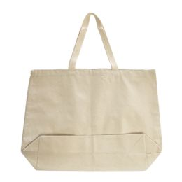 96 Units of Jumbo 12 ounce Gusseted Tote-Natural - Tote Bags & Slings