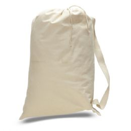 72 Units of Large 12 ounce Laundry Bag-Natural - Tote Bags & Slings