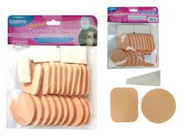 96 Units of 25pc Cosmetic Makeup Applicator Sponges - Cosmetics