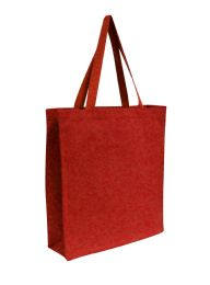 96 Units of Promotional Canvas Shopper Tote-Red - Tote Bags & Slings