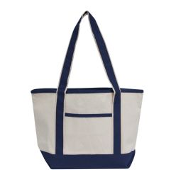 72 Units of Promotional Heavyweight Medium Boat Tote-Navy - Tote Bags & Slings