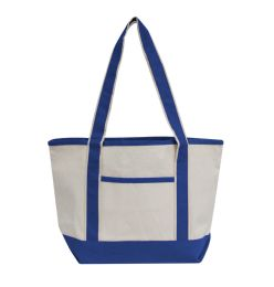 72 Units of Promotional Heavyweight Medium Boat Tote-Royal - Tote Bags & Slings