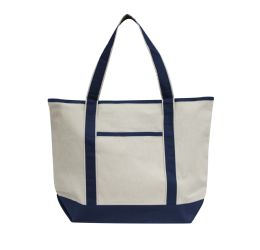 48 Units of Promotional Heavyweight Large Boat Tote-Navy - Tote Bags & Slings
