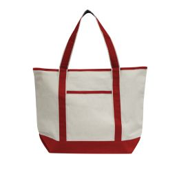 48 Units of Promotional Heavyweight Large Boat Tote-Red - Tote Bags & Slings