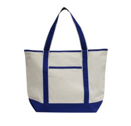48 Units of Promotional Heavyweight Large Boat Tote-Royal - Tote Bags & Slings
