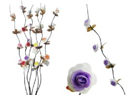 96 Units of Long Stem 4-Head Rose - Artificial Flowers