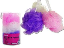48 Units of 3pc Bath & Shower Scrubber Loofahs - Loofahs & Scrubbers