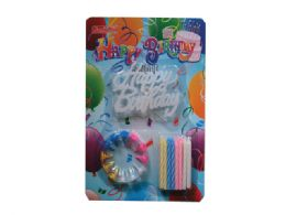 144 Units of Happy Birthday Candle Set - Birthday Candles