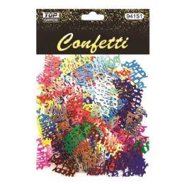 144 Units of Confetti Birthday Letter - Streamers & Confetti