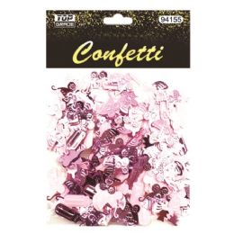 144 Units of Confetti Bottle Carriage Pink - Baby Shower