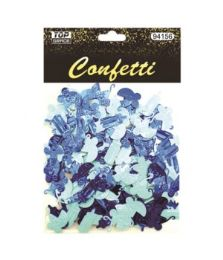 144 Units of Confetti Bottle Carriage Blue - Baby Shower