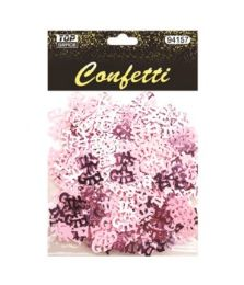 144 Units of Baby Girl Confetti - Baby Shower