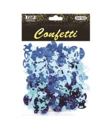 144 Units of Confetti Pony And Umbrellas Blue - Baby Shower