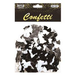 144 Units of Confetti Wedding Black And White - Streamers & Confetti