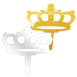 96 Units of Acrylic Crown Birthday Cake Topper - Birthday Candles