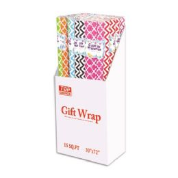 72 Units of Assorted pattern gift wrap - Gift Wrap