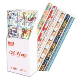 72 Units of Birthday gift wrap - Gift Wrap