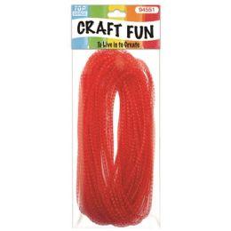 96 Units of Mesh waffle ribbon red - Bows & Ribbons