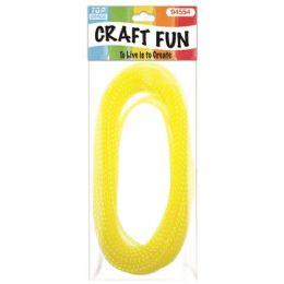 96 Units of Mesh waffle ribbon Yellow - Bows & Ribbons