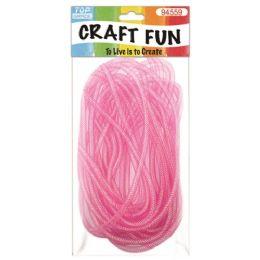 96 Units of Mesh waffle ribbon Pink - Bows & Ribbons