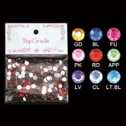 96 Units of Top Grade Craft Rhinestones Assorted - Craft Beads