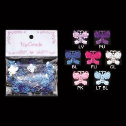 96 Units of Rhinestone Sticker Butterfly - Scrapbook Supplies