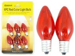 96 Units of 6pc Red Light Bulbs - Lightbulbs