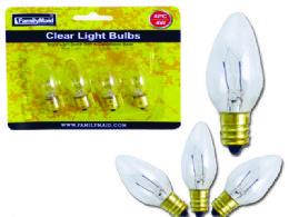 72 Units of 4pc 7 Watt Clear Light Bulbs - Lightbulbs