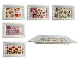 96 Units of Rectangular Printed Tray - Serving Trays