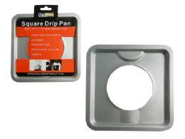96 Units of Square Burner Drip Pan - Baking Supplies
