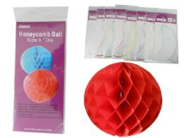 144 Units of Decorative Honeycomb Ball - Party Paper Goods