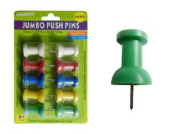 96 Units of 10pc Jumbo Push Pins - Push Pins and Tacks