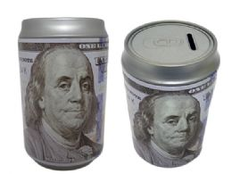 48 Units of Coin Bank, Saving Tin, Us $100 Bill - Coin Holders & Banks