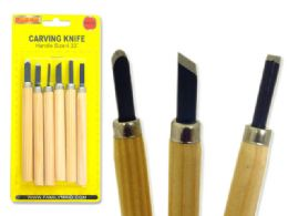 96 Units of 5pc Wood Carving Hobby Knives - Kitchen Knives