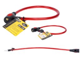 """72 Units of 27"""" Long Bicycle Cable Lock With 2 Keys - Biking"""