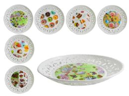 48 Units of Round Printed Tray - Serving Trays
